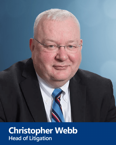 Christopher Webb - Head of Litigation and Advocate