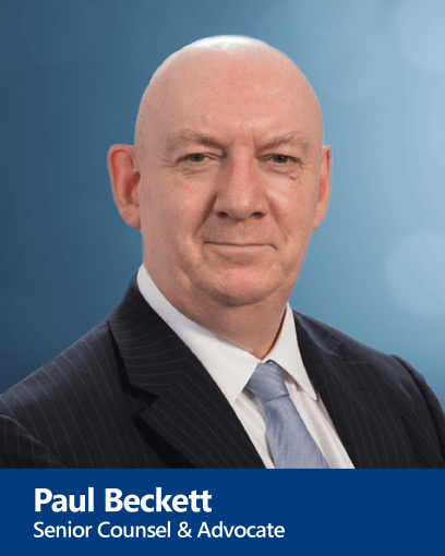 Paul Beckett - Senior Counsel and Advocate